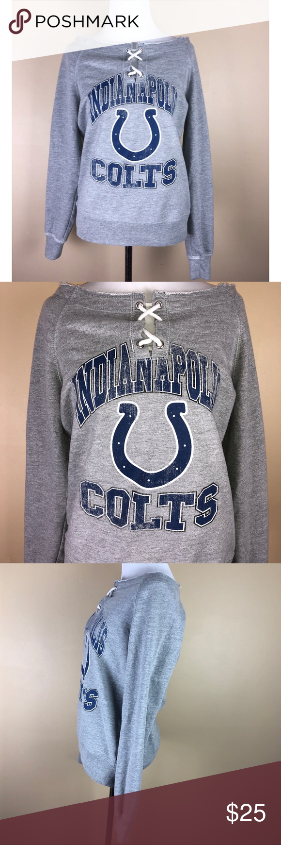 Nfl Indianapolis Colts Grey Crewneck Size Small Brand Nfl Color Grey Blue Condition Great Used Condition Sweatshirt Tops Clothes Design Sweatshirts Hoodie [ 1740 x 580 Pixel ]