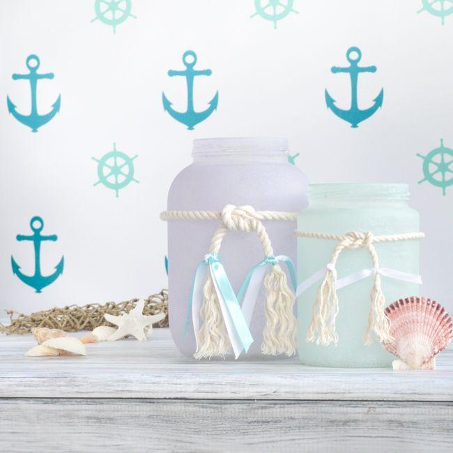 Sea Glass Mason Jars | Mason Jar Crafts Love