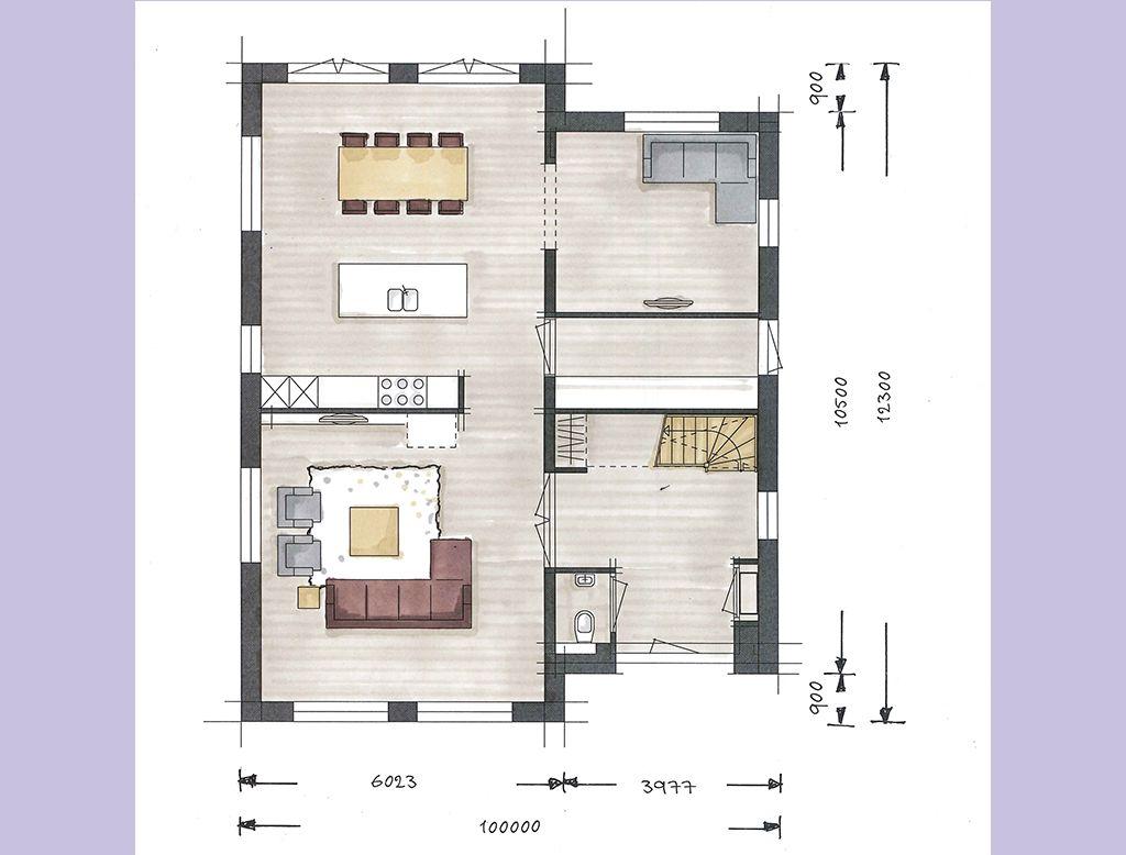 Villabouw boswitje plattegrond begane grond huis for Nouvelles dispositions de maison