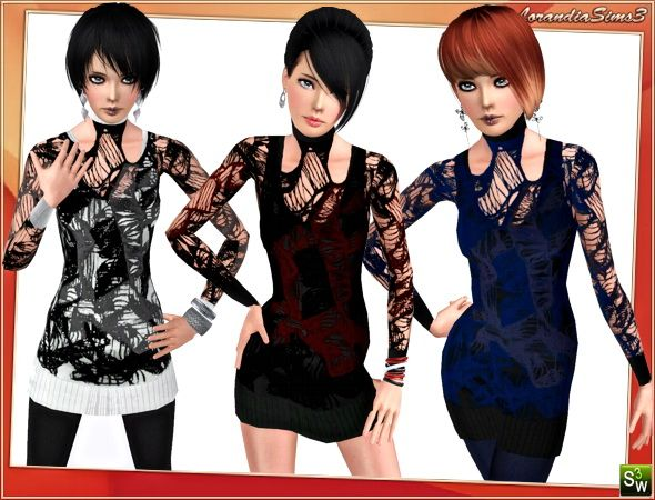 Layered designer outfit @ Lorandia Sims 3