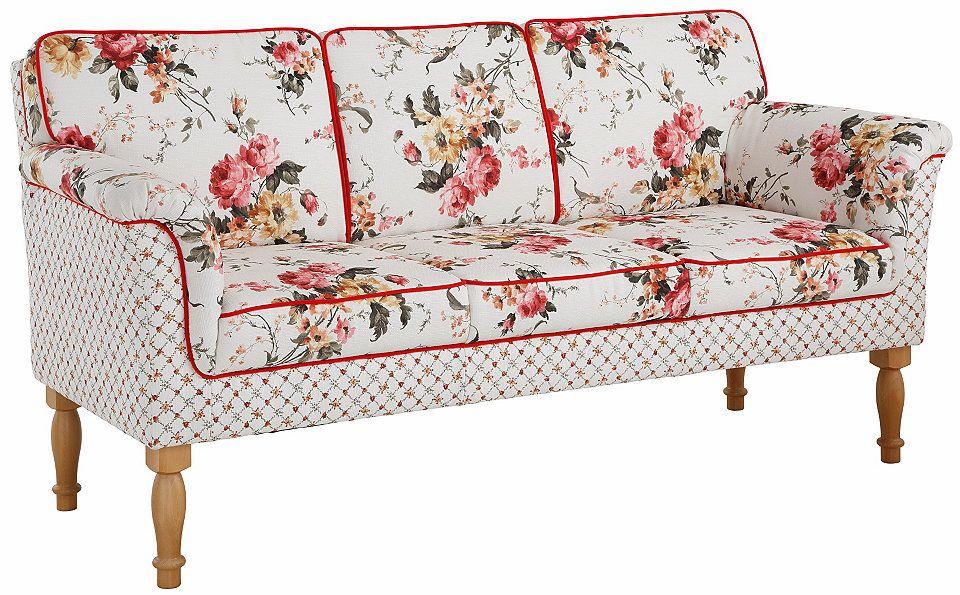 3 sitzer sofa mit federkern, home affaire 3-sitzer küchensofa »lancaster«, mit federkern, ideal, Design ideen