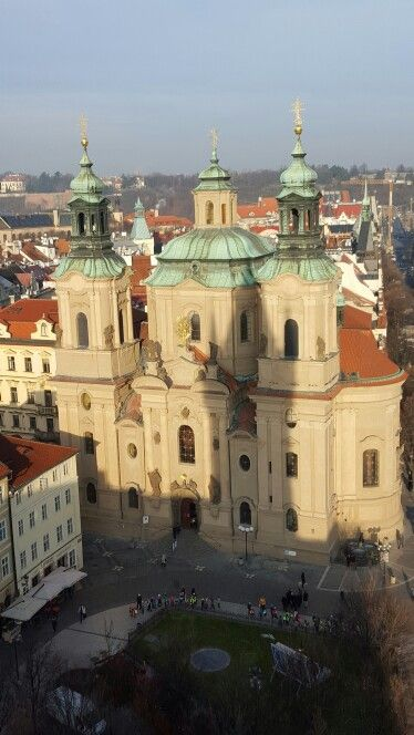 St Nicholas from the Astronomical Clock tower. PRAGUE