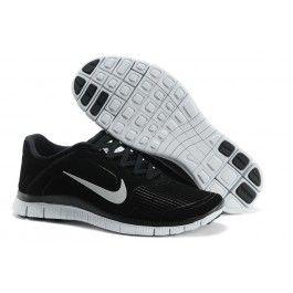 Købe Nike Free 4.0 EXT Sort Hvid Herre Skobutik   Køligt