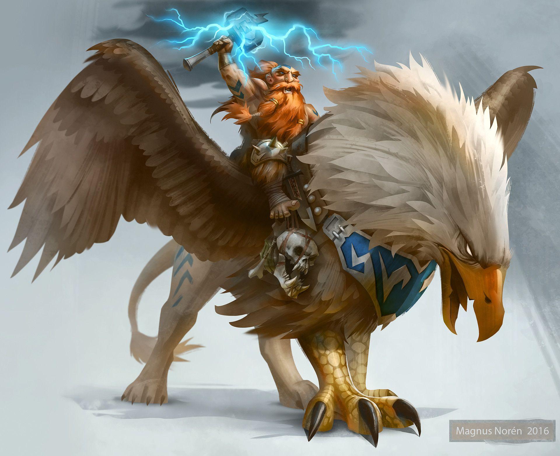 Kurdran Wildhammer Magnus Noren Warcraft Art Fantasy Creatures Fantasy Dwarf