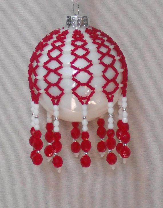 Beaded Christmas Ornaments.A Pattern For Creating Your Own Beaded Christmas Ornament