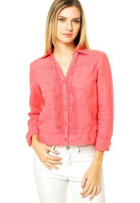 Camisa Mooncity Renda Rosa
