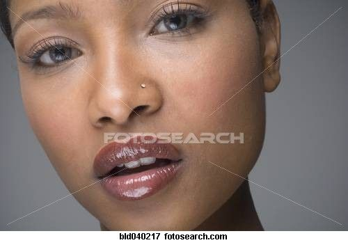 African Woman With Nose Ring Stock Photo Nose Piercing Stud
