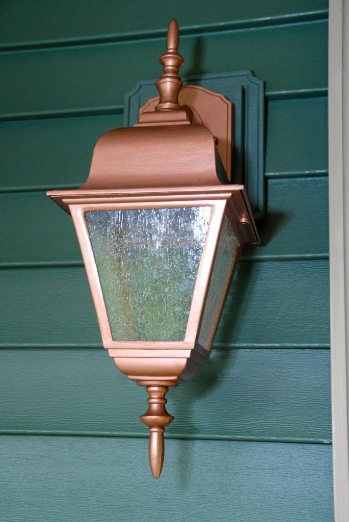 Living Rich On Lessliving Rich On Less: Modern Masters Copper Penny Metallic Paint On Exterior