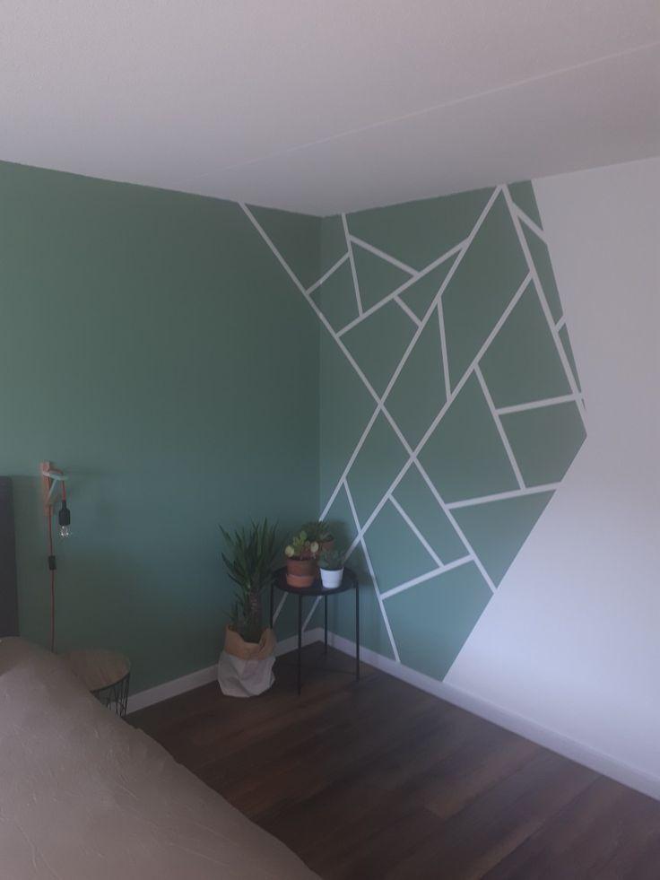 Vakken op de muur., #muur #paintedwallaccent #Vakken