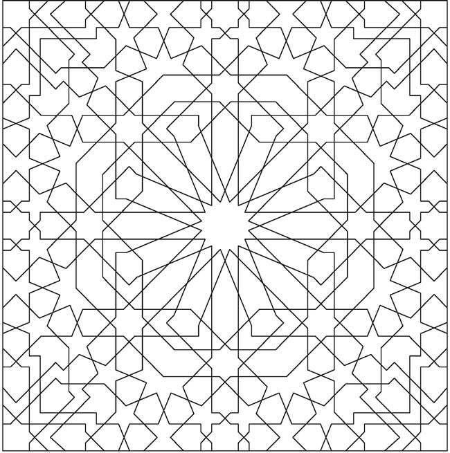 Alhambra coloring pages ~ Dover Sampler - Creative Haven Alhambra Designs Coloring ...