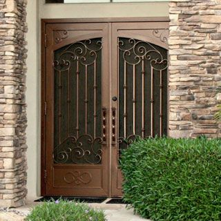 Custom wrought iron security screen doors or storm doors of the highest quality. Contact First Impression Security Doors today! & Security Doors | Custom Security Screen Doors | Steel Storm Door ...