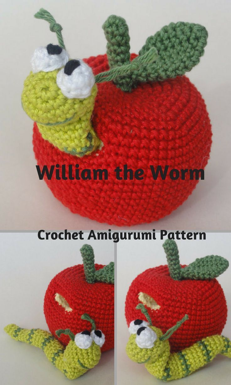 William the Worm is an adorable crocheted amigurumi doll that would ...