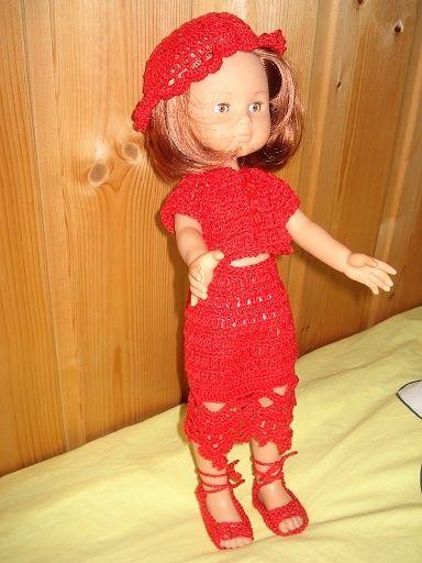 Fiche gratuite vêtements de poupée N° 143: ensemble au crochet