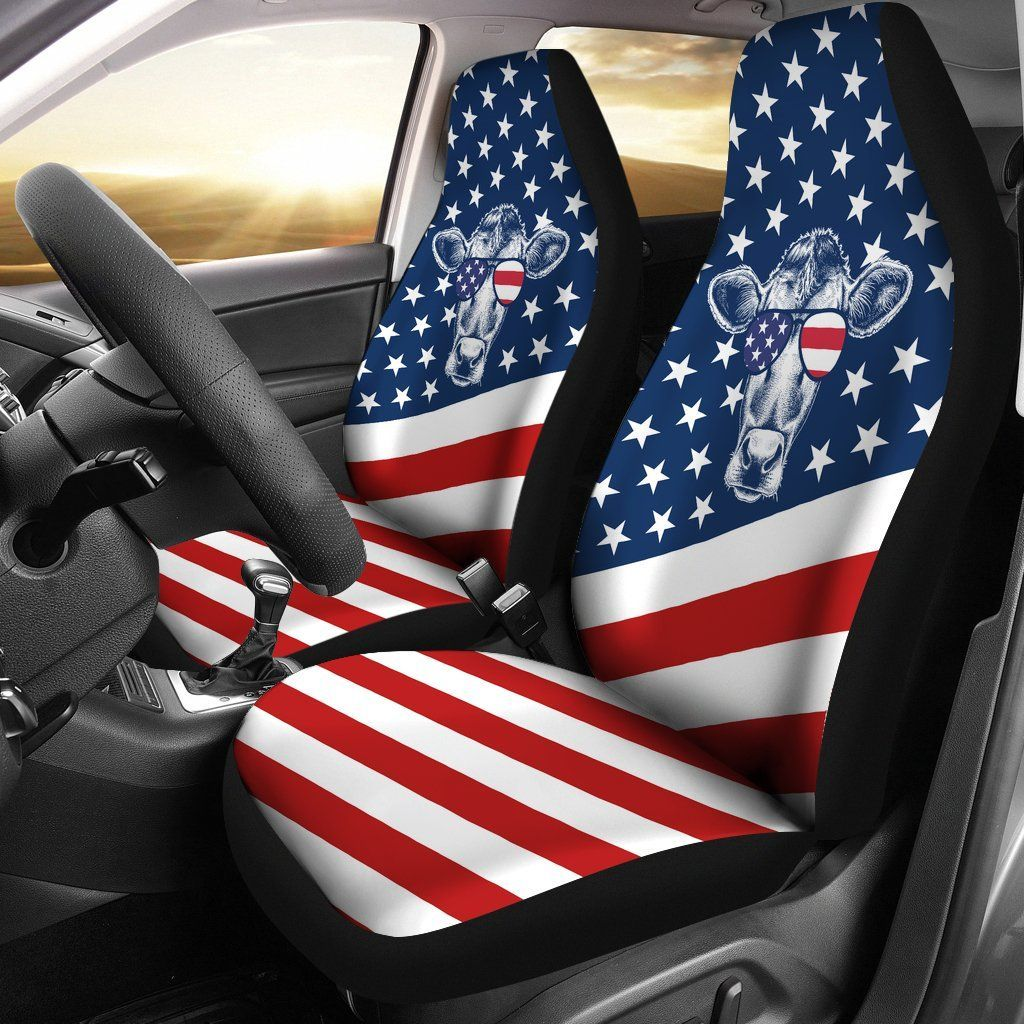 Flag Cow USA car seat covers Jeep seat covers, Seat