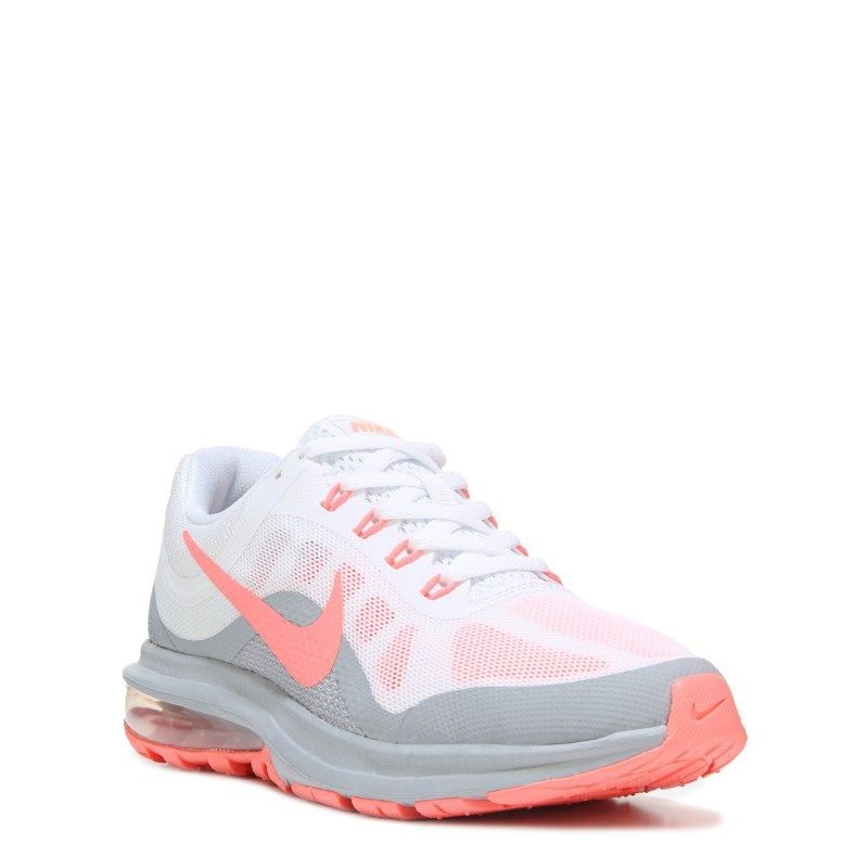 Womens Nike Air Max Dynasty 2 Running Shoe WhiteMangoGrey