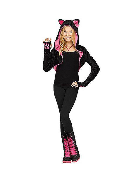 Kids Hooded Cat Shrug - Spirithalloween Halloween Pinterest - cute cat halloween costume ideas