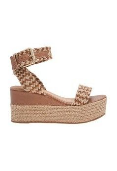 077f5448a Sandália plataforma corda tressê - marrom | Shoes!♥.♥ em 2019 ...