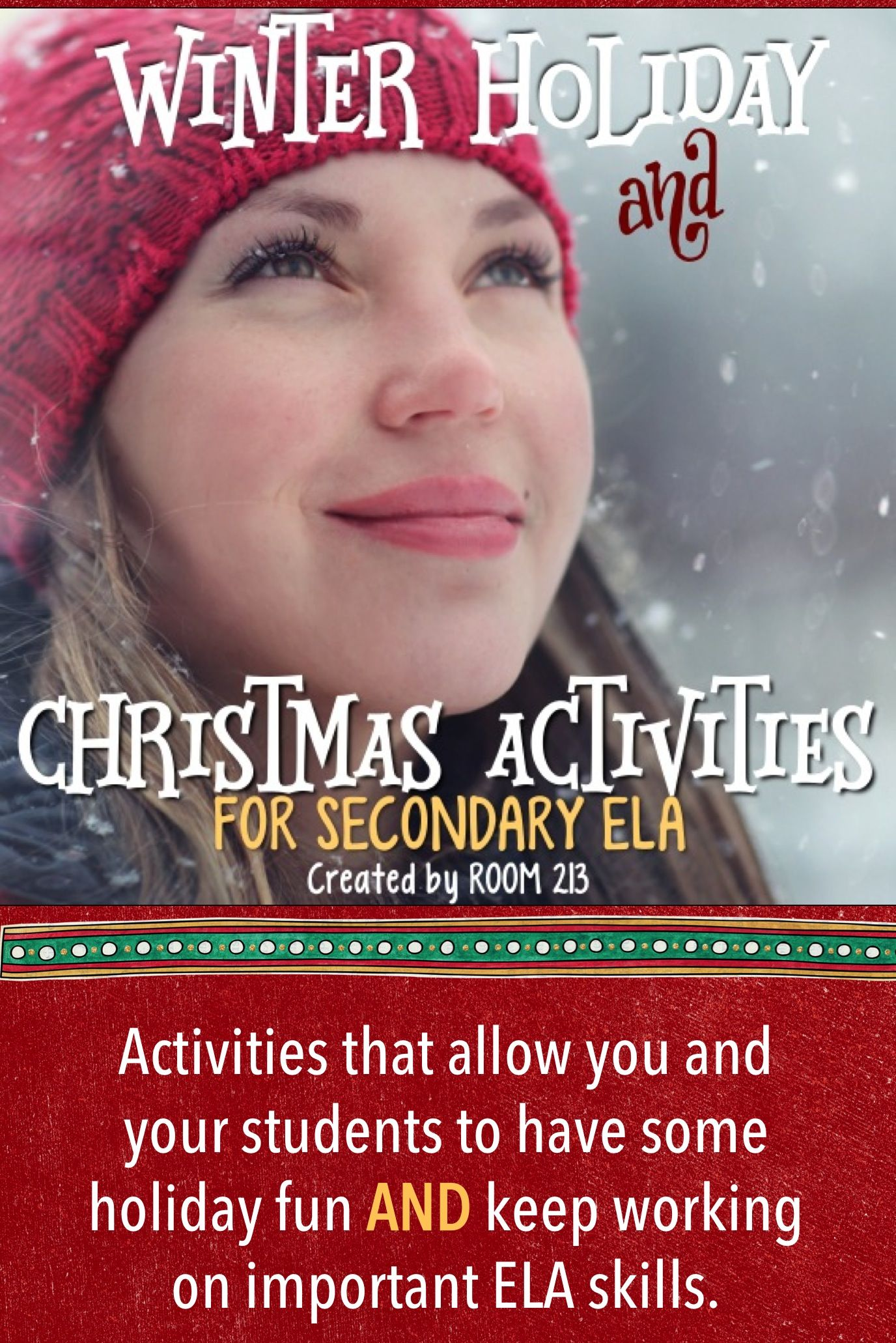 christmas and winter holidays activities for secondary ela education ideas school high. Black Bedroom Furniture Sets. Home Design Ideas