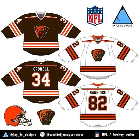 buy online 56c50 81a45 cleveland browns hockey jersey