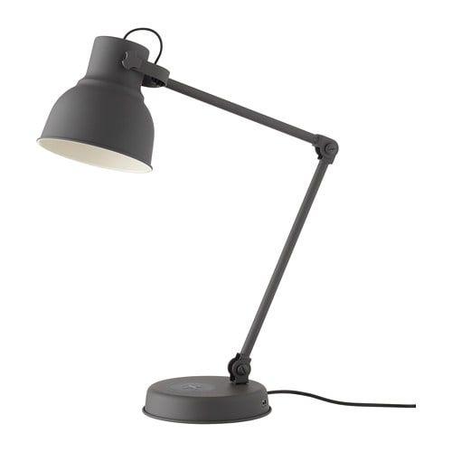Hektar Dark Grey Work Lamp With Wireless Charging Ikea Work Lamp Lamp Large Lamp Shade