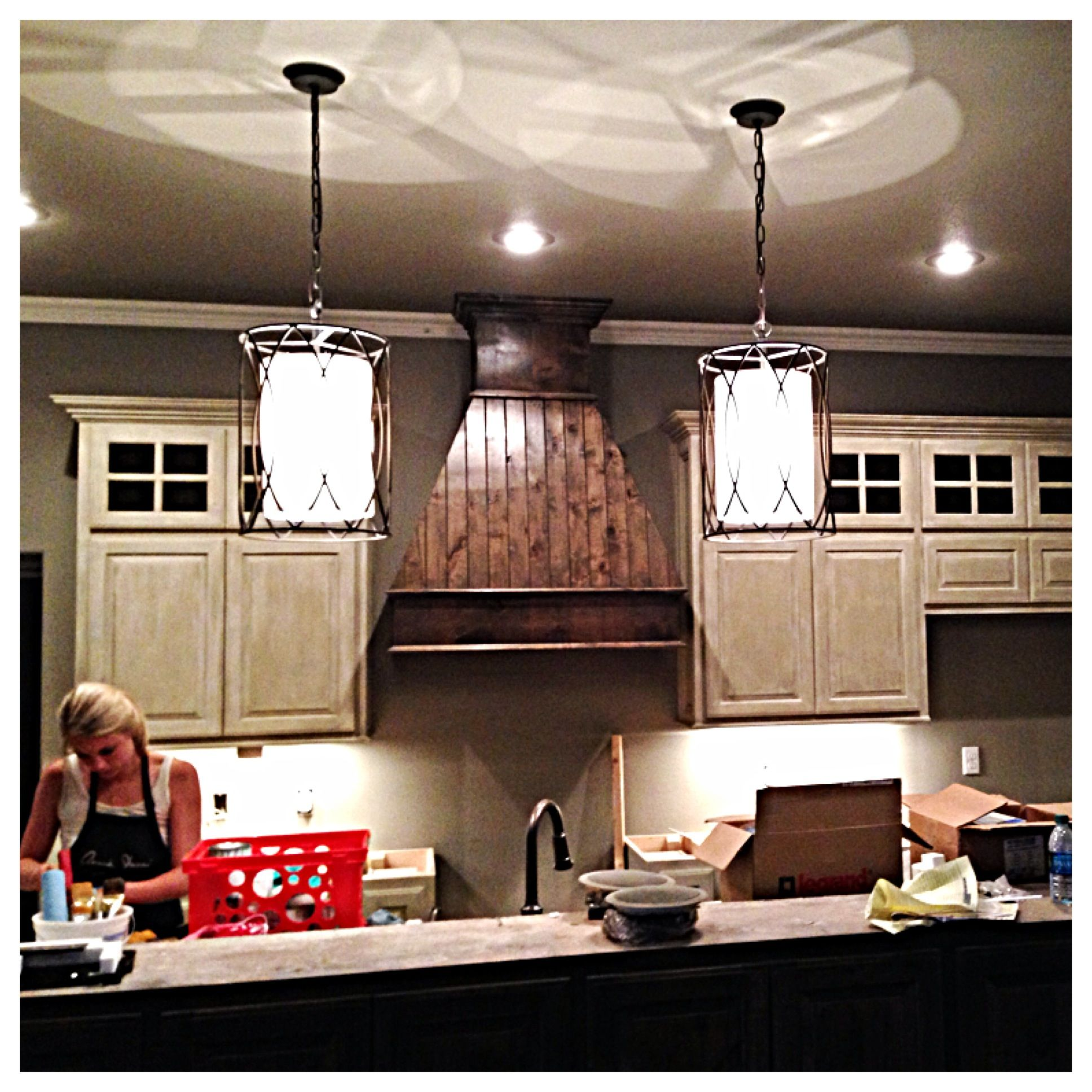 Annie Sloan Painting Kitchen Cabinets: Country Grey And Old White Wash Cabinets. Annie Sloan