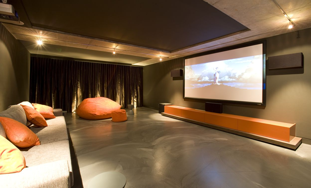 Home Theatre Design Ideas Spacious Theater Idea