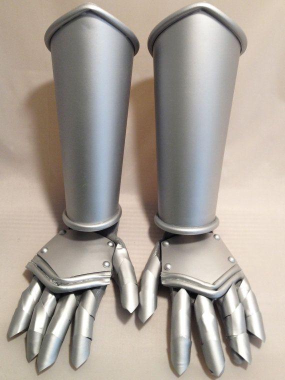 Dull Aluminum Original Design Plastic Gauntlets Cosplay Armor