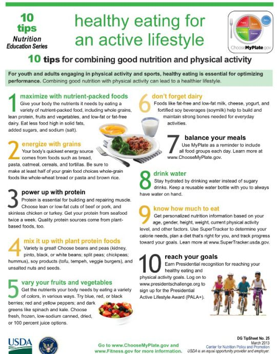 Tips For Combining Nutrition And Physical Activity Fitness