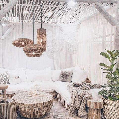 Inspi du jour bonjour #deco #homedecor #inspi #cozy #rotin #living #perfect #pinterest #artyme ...