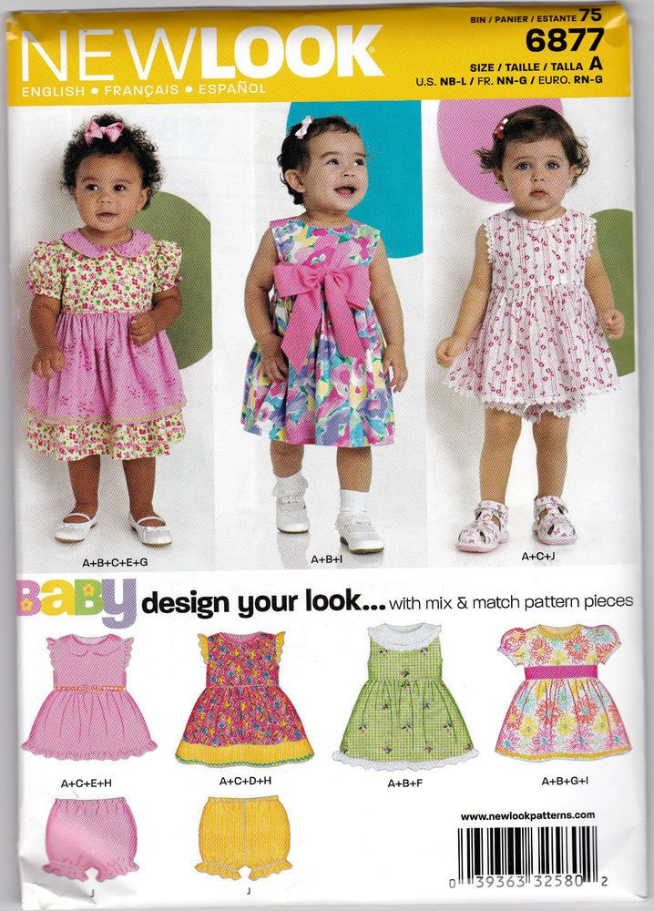 From UK Sewing pattern Baby Dress Pants nb-lg #6877 | Sewing ...