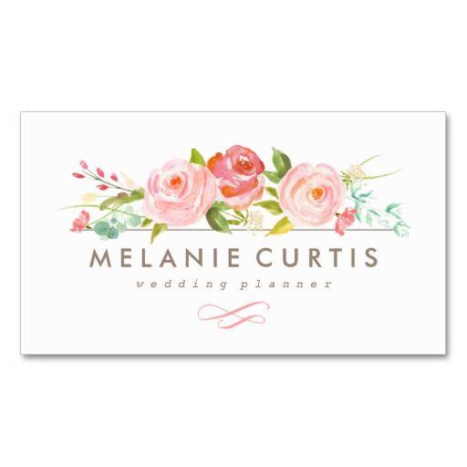 Rose Garden Floral Business Card Zazzle Com In 2021 Floral Business Cards Beauty Business Cards Flower Shop Names