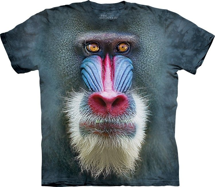 The Mountain Big Face Mandrill Baboon T Shirt Baboon Big Face Mandrill