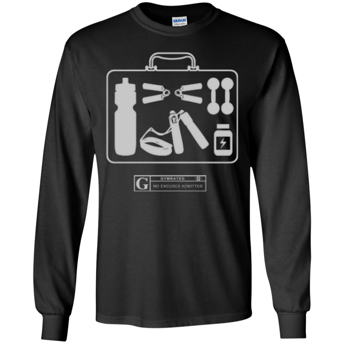 """Fitness Kit"" Men's Long Sleeve Tees & Hoodies by GYMRATED™"