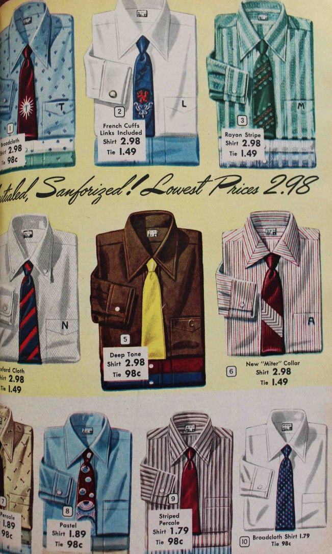 1950s Men S Shirt Styles Dress Shirts To Casual Pullovers Men