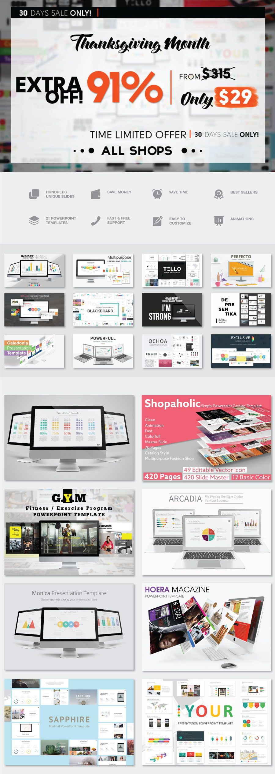 Stock powerpoint templates free download every weeks stock powerpoint templates free download every weeks thanksgiving month all shop presentation bundle toneelgroepblik Image collections