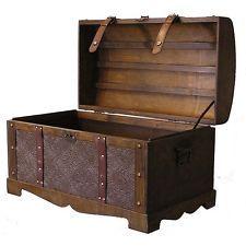 Trunks Chests Large Vintage Storage And Steamer Wood Decorative Antique  Metal