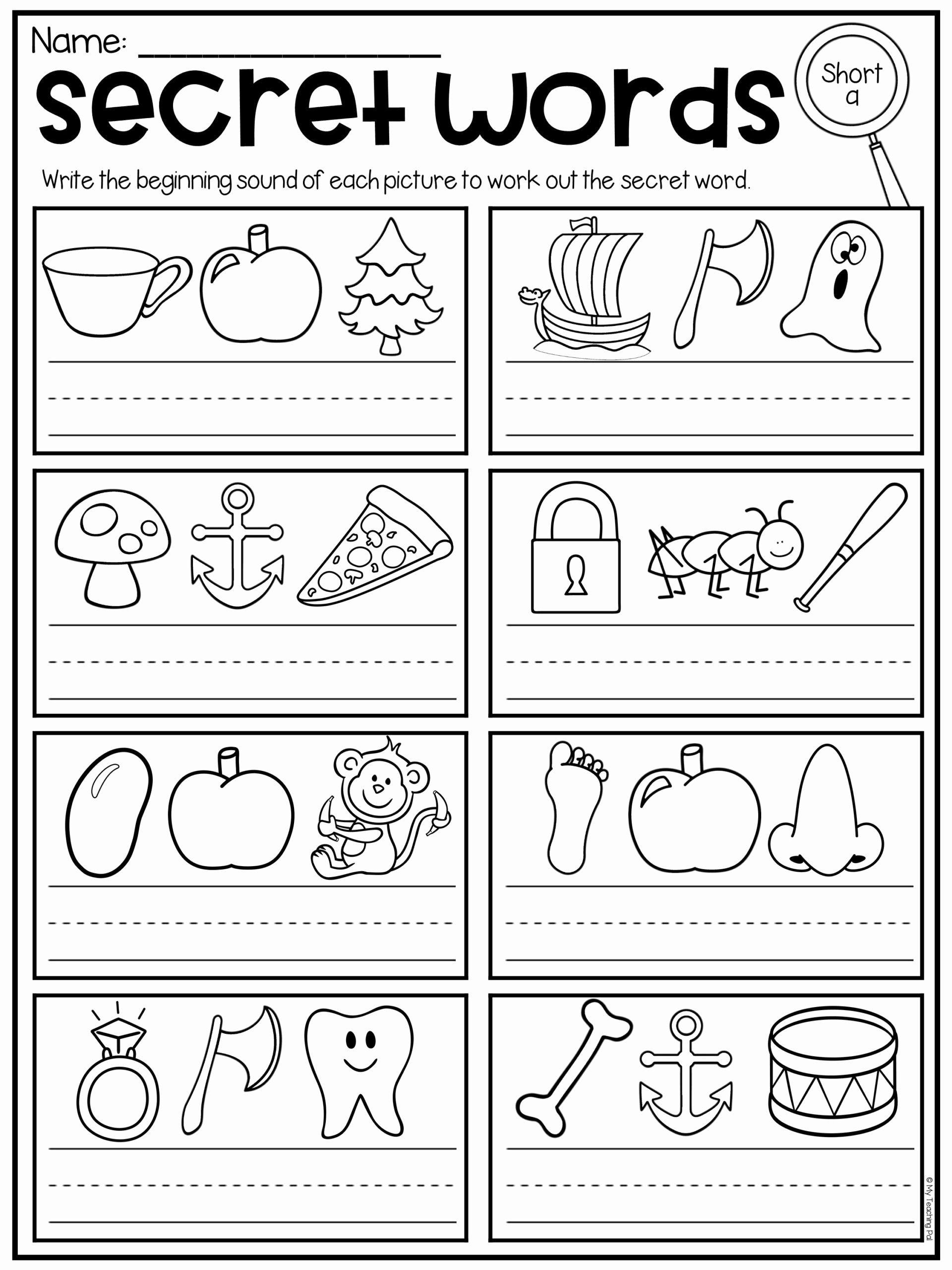 Coloring Activities For Kindergarten In