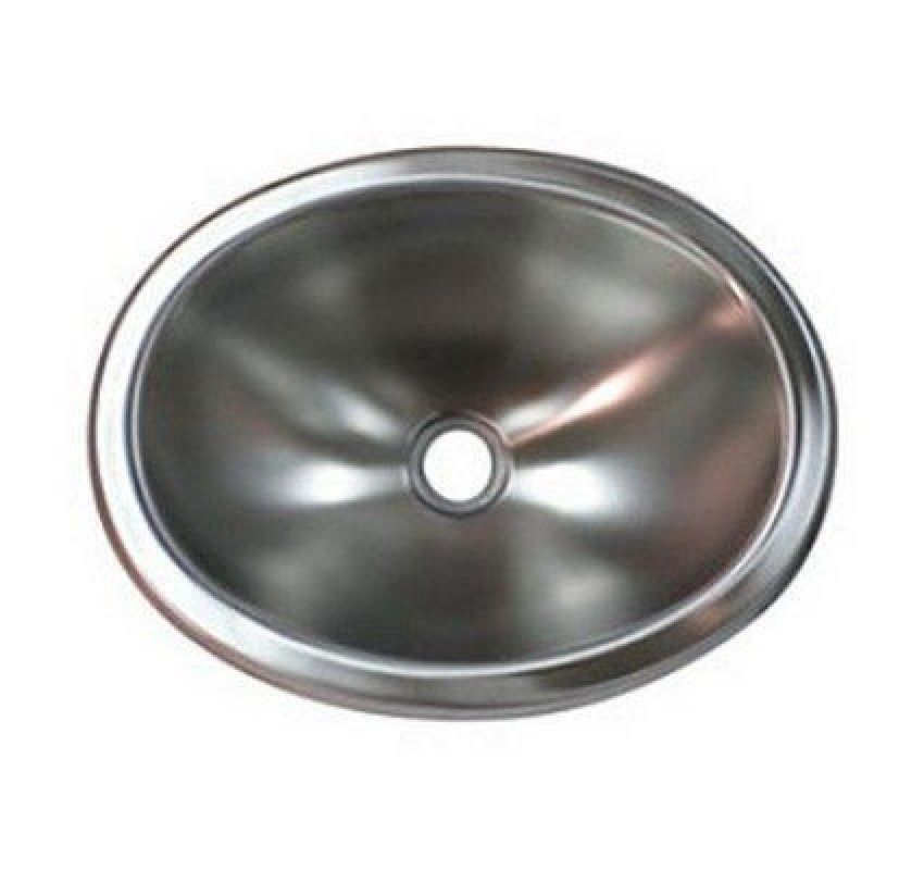 10 x 13 oval stainless steel sink single bowl | airstream bathroom