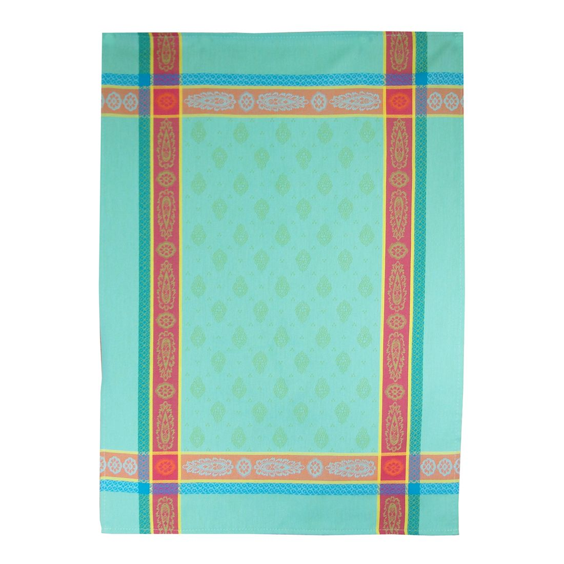 Multicolor Turquoise French Jacquard Tea Towel | Touch of Europe ...