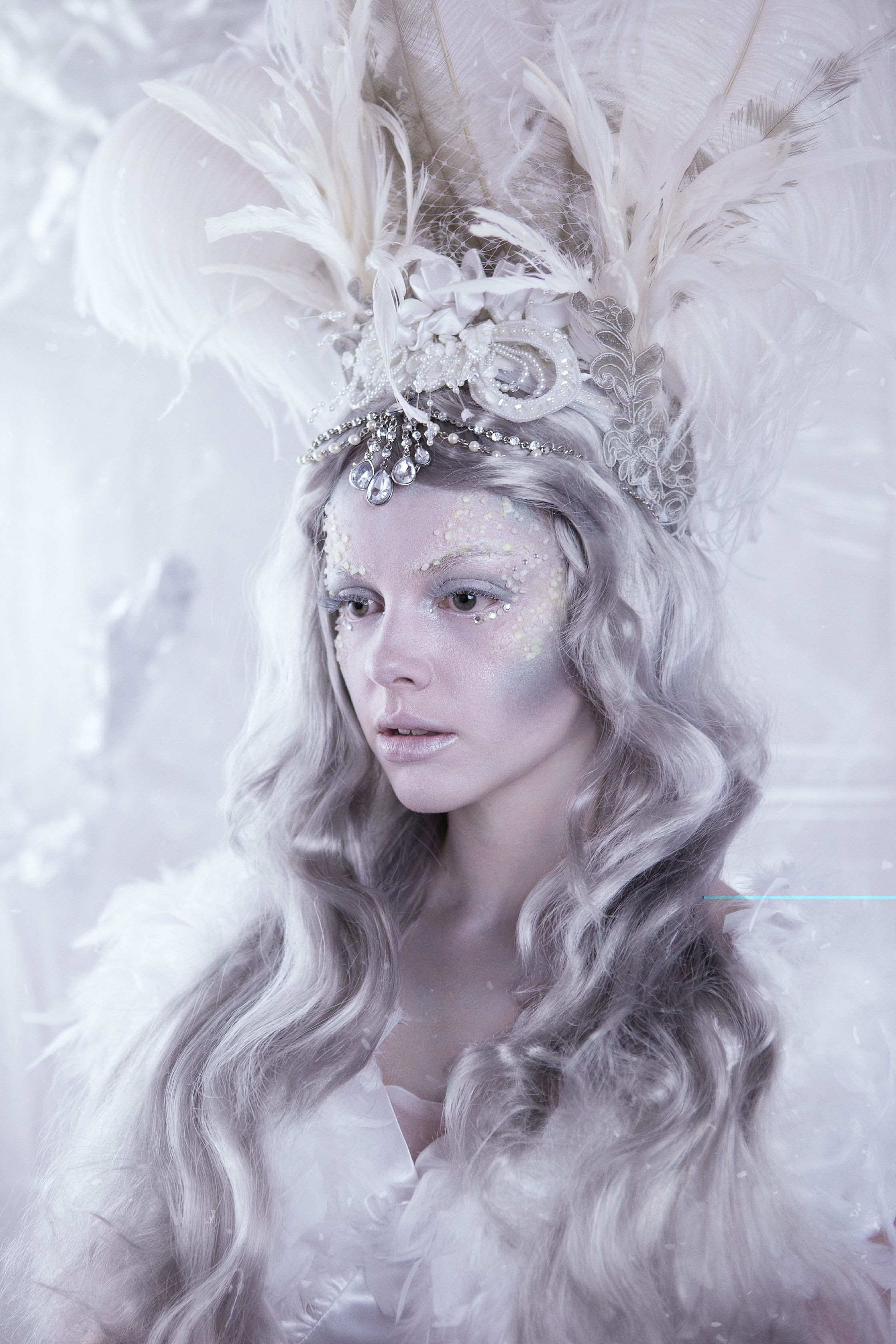 Snow and Ice Queen Fantasy Makeup Hannah King