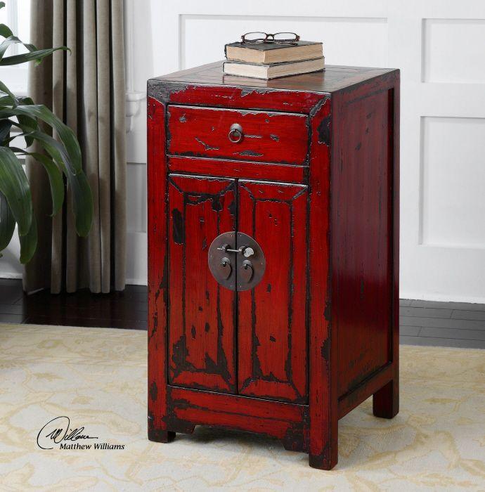 Directbuy Kitchen Cabinets: Uttermost Harkin Accent Chest. Brilliant, Vermillion Red