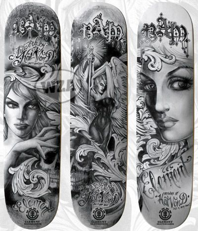 Kat Von D Skateboards Tattoo Design Book Kat Von D Tattoos Skateboard Tattoo