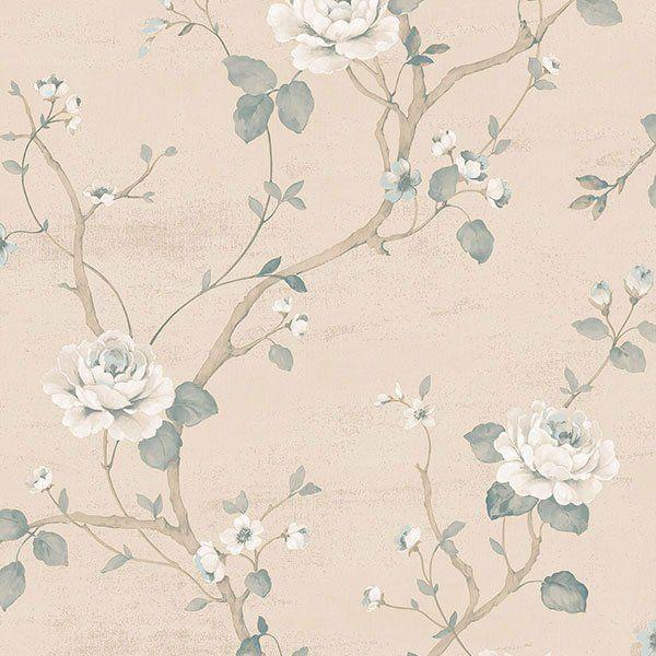 """Luisella Floral 33' L x 21"""" W Wallpaper Roll"""