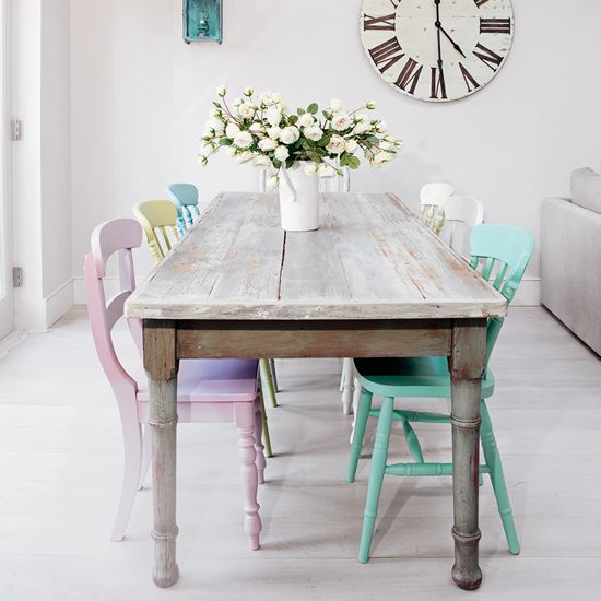 Shabby Chic Kitchen Table Centerpieces: Relaxed Country Kitchens