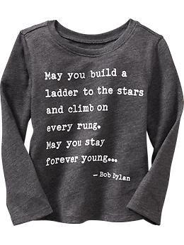 288163345c7ad 18-24 months Bob Dylan™ Lyrics Tee for Baby | Old Navy | Thank God ...