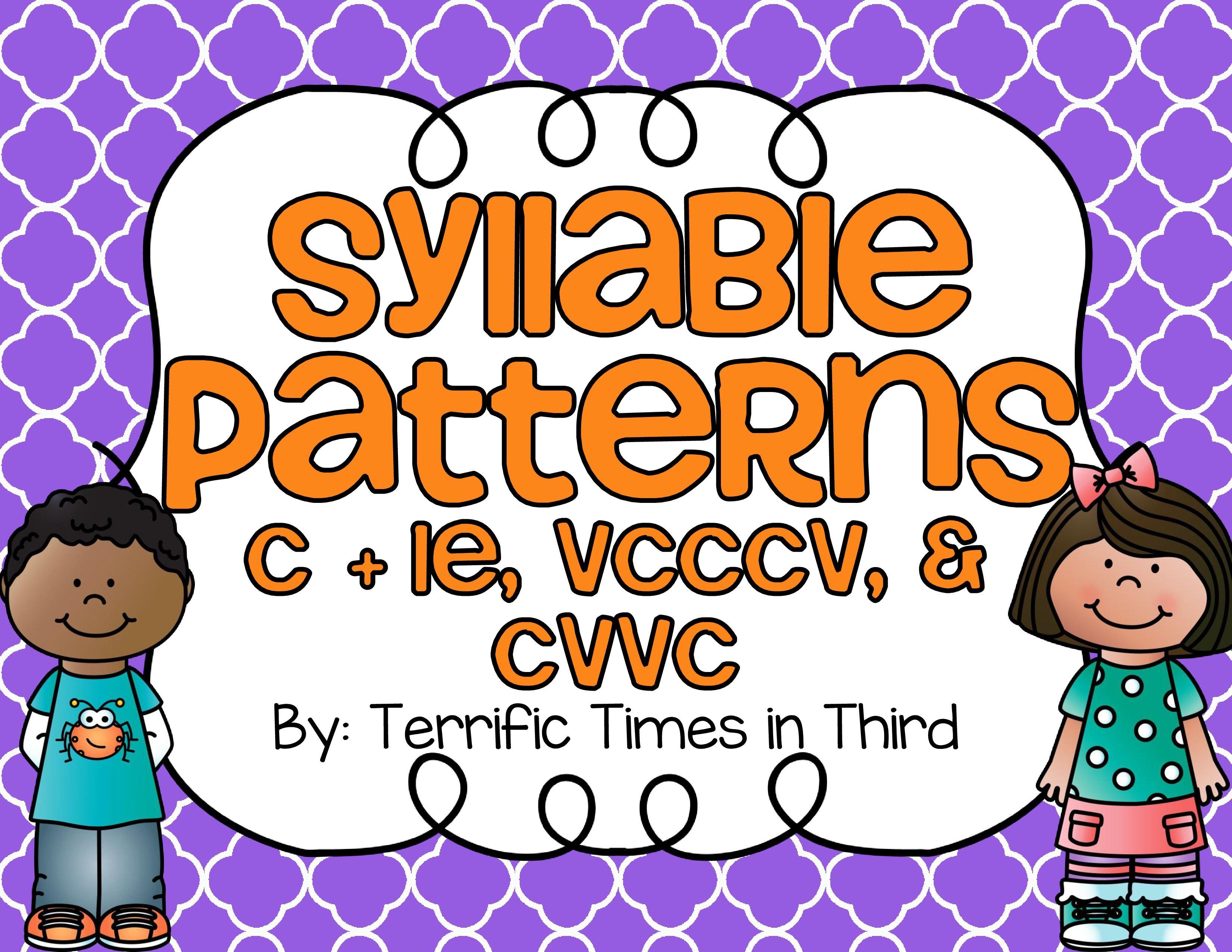 Syllable patterns vccv worksheet education com - Syllable Patterns C Le Vcccv And Cvvc No Prep Worksheets