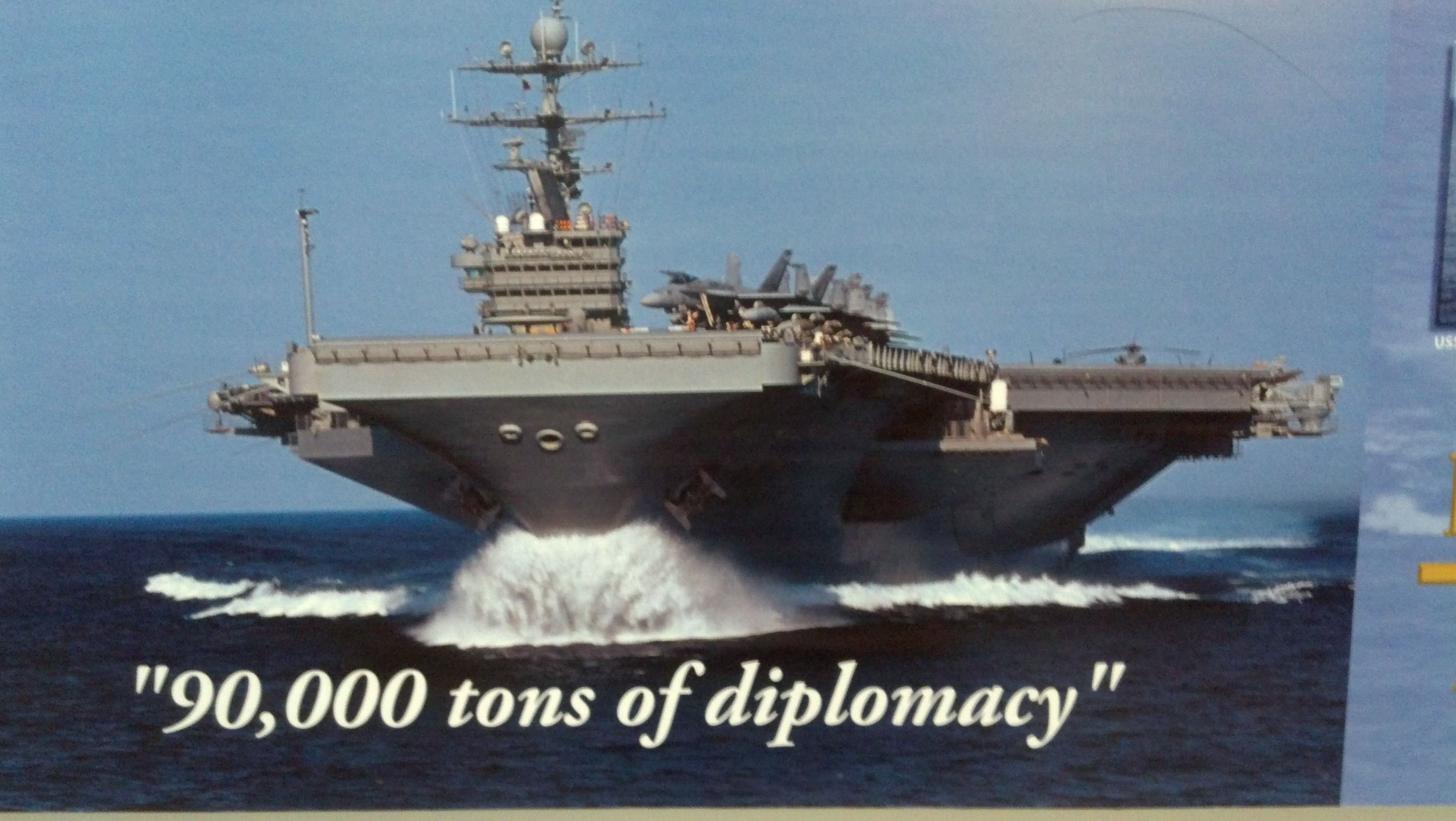 90,000 tons of diplomacy - courtesy of the united states