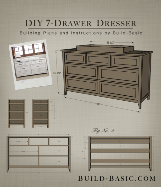 40 Outdoor Woodworking Projects For Beginners: Build A DIY 7 Drawer Dresser