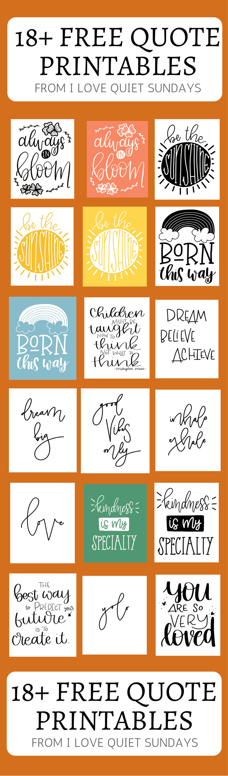 Free Art Friday 18 Printable Quotes April 14th Get Your Butt