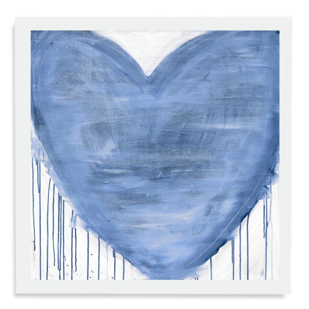 Violets Are Blue Drippy Heart Art Print | Heart art print ...